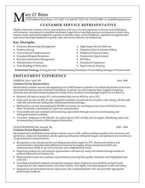 Customer Service Resume Sle by Pin Oleh Jobresume Di Resume Career Termplate Free
