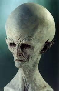 Realistic Alien Sculpture