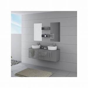 Meuble Salle De Bain Taupe : meuble salle de bain ref dis622gt coloris gris taupe ~ Dailycaller-alerts.com Idées de Décoration