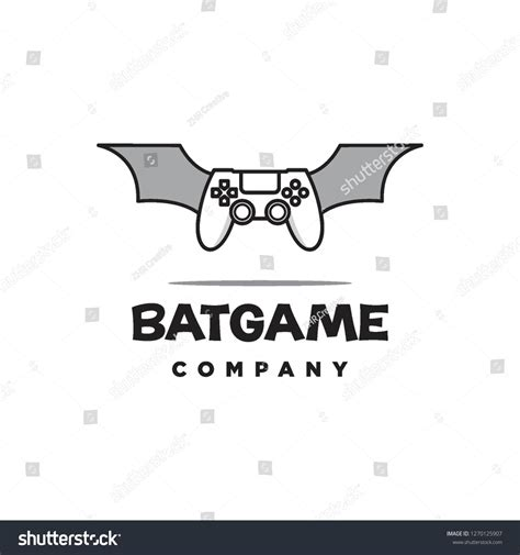 joystick game controller and bat wings logo icon vector