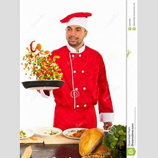 Chef Man Tossing Vegetables Stock Photos  Image 34263583