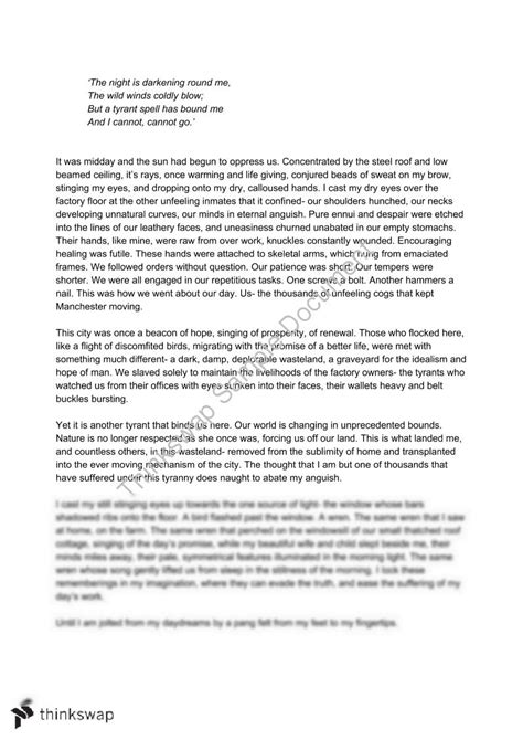 hsc romanticism band  creative writing piece year