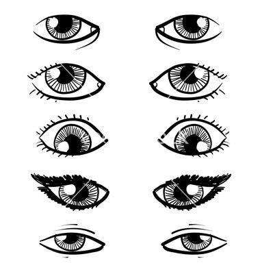 pin  ekaira bunton  facial features human eye