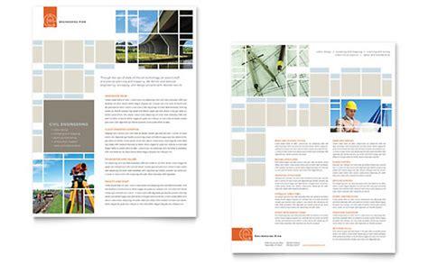 civil engineers brochure template design