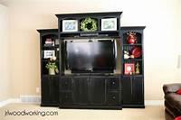flat screen entertainment center Ana White | Custom Wall Media/Entertainment Center - DIY ...