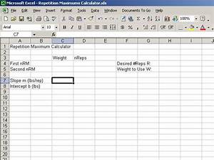creating a repetition maximums calculator With bodybuilding excel template