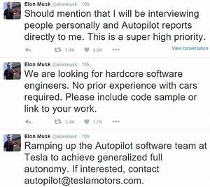 Tesla Seeking Hardcore Software Engineers For Autopilot ...