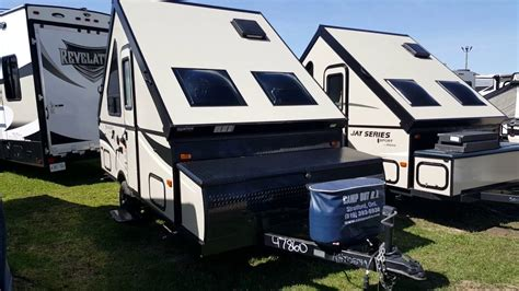 palomino camping trailer ast  frame tent trailer