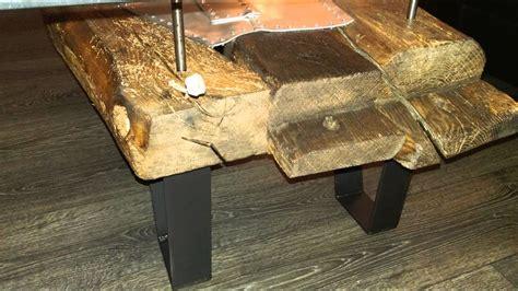 ausgleichsschiene parkett fliese tisch aus balken 83 wohnzimmertisch balken balken eichen