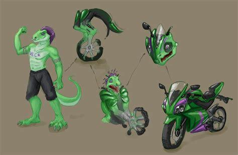 Lizard To Motorbike Tf Comic Comm By