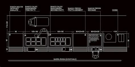 Commercial Kitchen Table Drawing Floor Self 2d Dwg Block