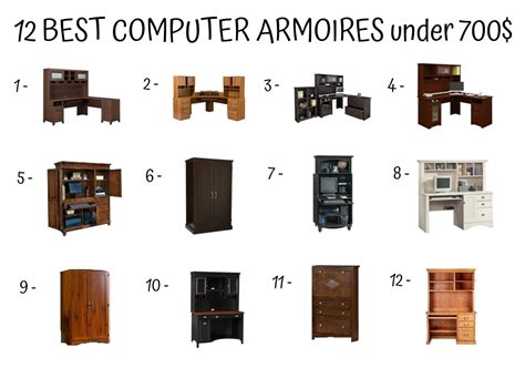 Tips For Buying Computer Armoires  Home Furniture Design