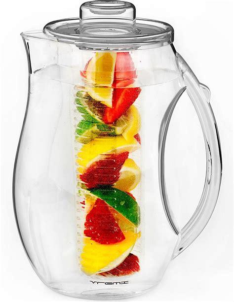 vremi fruit infuser water pitcher 2 5 liter jet