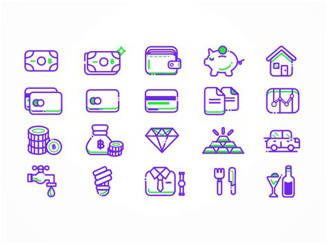 finance icon set sketch freebie free resource