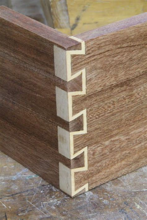 inlay dovetails  woodshop woodworking