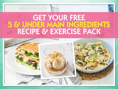 5 under main ingredients recipe exercise pack the