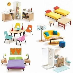Meuble De Maison : pack mobilier pour maison de poup es djeco jouets et merveilles ~ Teatrodelosmanantiales.com Idées de Décoration