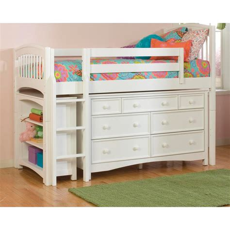 Dresser Bed by White Low Loft Storage Bed With Wakefield 7