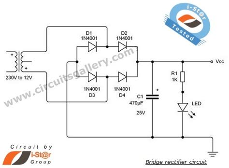 full wave bridge rectifier circuit  working