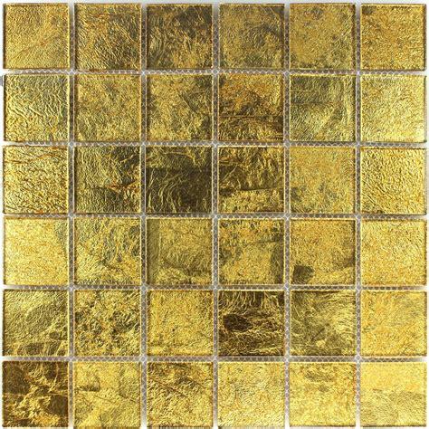 porcelain tiles glass mosaic effect tiles gold 48x48x4mm mosafil co uk