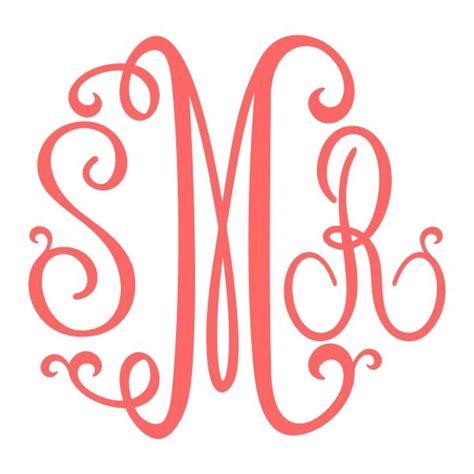 image result  svg vinyl circle monogram font   cricut monogram font cricut