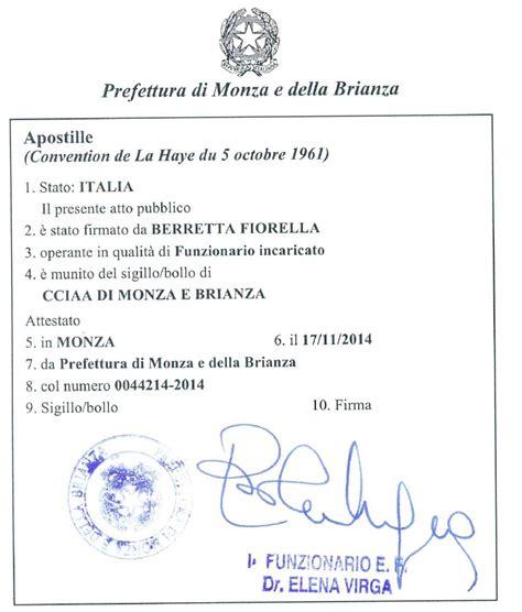 Prefettura Di Roma Ufficio Legalizzazioni by Come Ottenere Un Apostille In Italia Italian Certificates