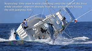 tuna boat sinks marlin sinks fishing boat vessel capsizes after hookin