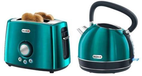 coloured toaster and kettle set breville teal traditional kettle toaster set vtt366 vkj693