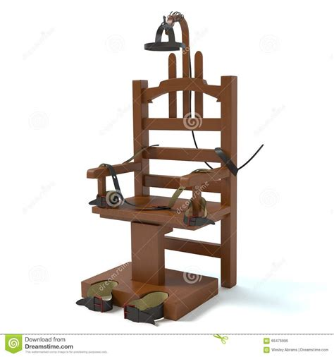 execution chaise electrique electric chair stock illustration image of prisoner