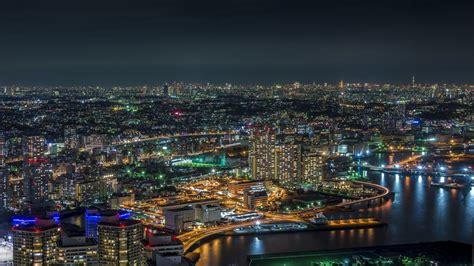 tokyo cityscape night japan lights