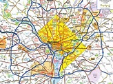 Large detailed roads and highways map of Washington D.C ...