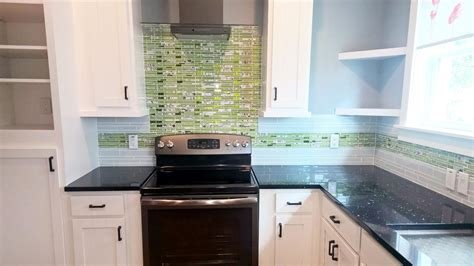 glass tile backsplash for kitchen lime green and floral linear glass tile kitchen backsplash 6855