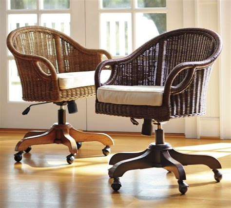wingate rattan swivel desk chair contemporary office