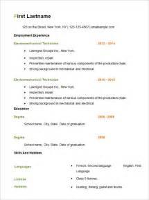 basic resume sle free open office resume template basic resume templates