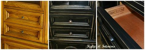 black buffet hutch painted  distressed