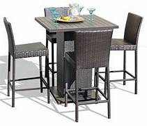 Patio Furniture Pub Table Sets by Venus Pub Table Set With Barstools 5 Piece Outdoor Wicker Patio Furniture C