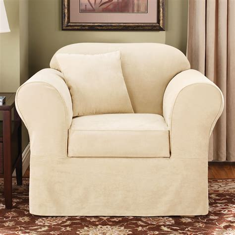 slipcovers for chairs sure fit slipcovers suede supreme chair slipcover atg stores