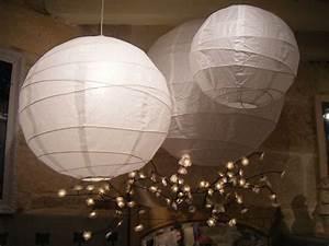 Boule Papier Luminaire : lustre 3 boules japonaises d coration de no l d co colo ~ Teatrodelosmanantiales.com Idées de Décoration
