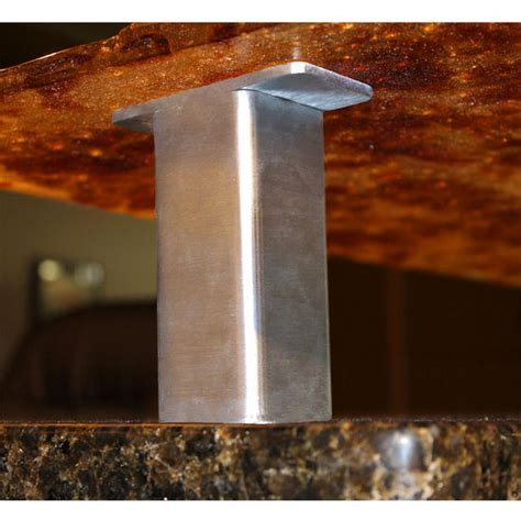 countertop post support creating a floating countertop or breakfast bar is