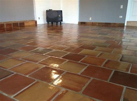 tile floor kitchen 12x12 manganese saltillo mexican terracotta clay floor 4604