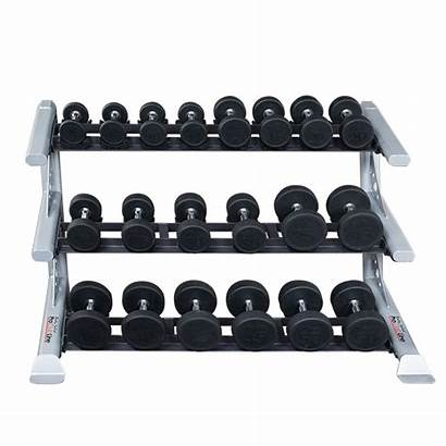 Rack Dumbbell Solid Saddle Weight Modular Clubline