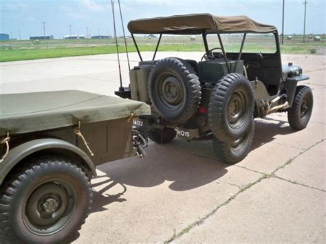 military jeep willys for sale willys m38 military jeep and m 100 trailer used classic