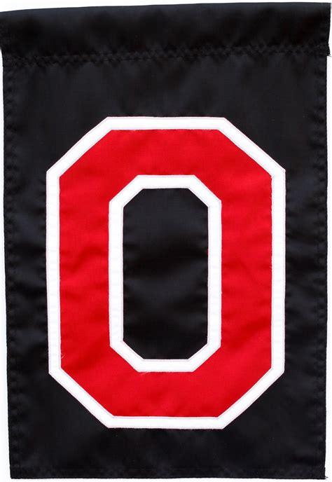ohio state woody block  garden flag    usa