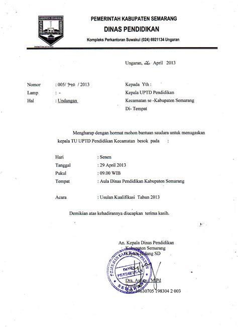 Surat Undangan Dinas by Tendik Sd Kab Semarang Surat Dinas