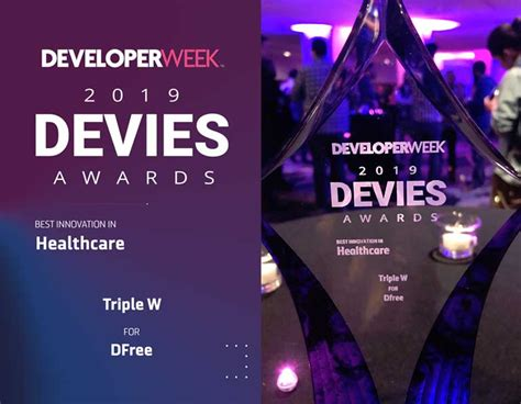 DFree | Triple W Wins 2019 DEVIES Award for Best Innovation in Healthcare for DFree
