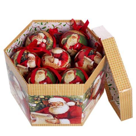 santa baubles from debenhams traditional christmas