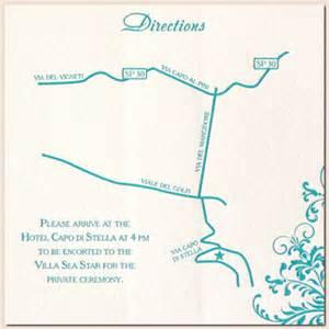 Direction Map Wedding Invitations