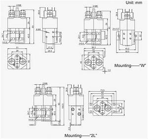 Sw80 12v 24v 36v 100a No Nc Dc Magnetic Latching Magnetic
