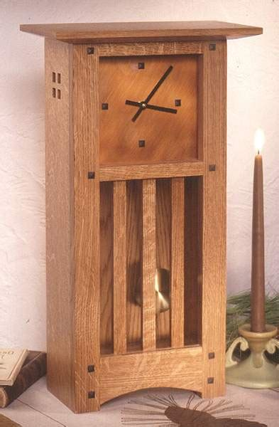 arts  crafts mantle clock woodworking plan