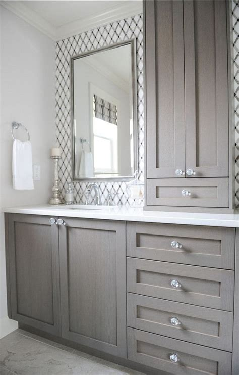 gray cabinets give your bathroom a budget freindly makeover confettistyle